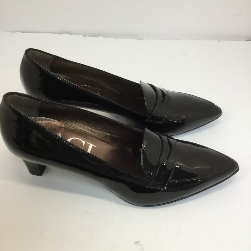 AGL Patent Leather Loafer Heels- size 38.5