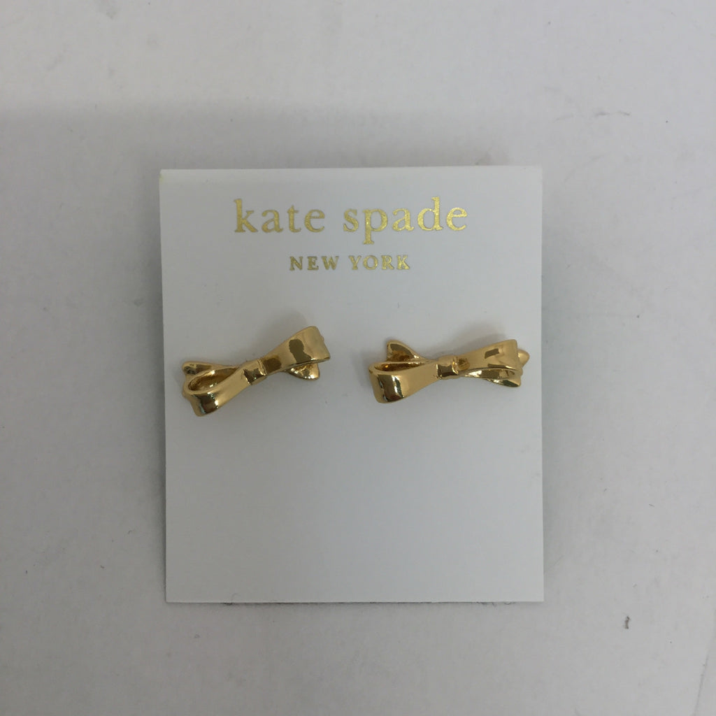 Kate Spade Gold Toned Bow Stud Earrings