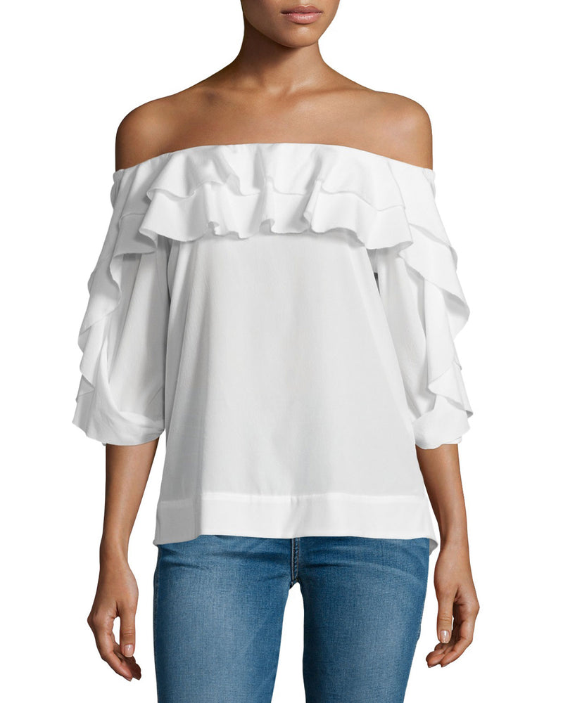 L'Agence Monroe Off-The-Shoulder Top - size M