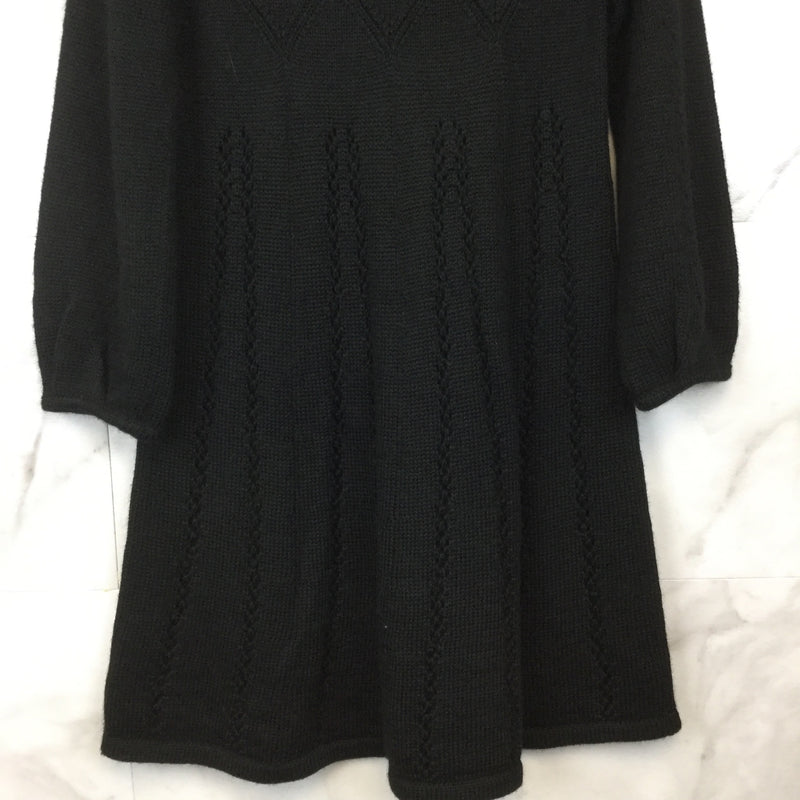French Connection Black Knit Flared Hem Dress- size 6