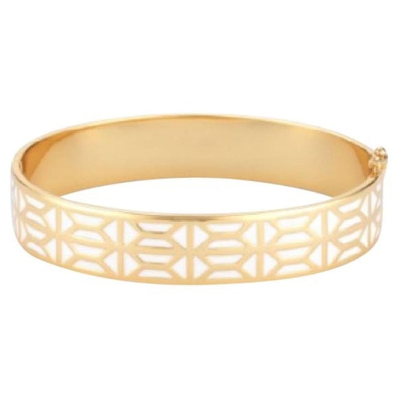 Stella & Dot Breezeblock Enamel Bangle
