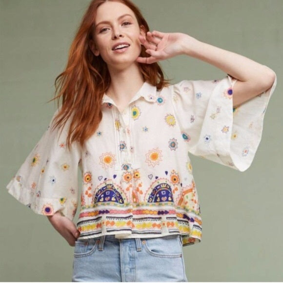Anthropologie Maeve Elliot Popover Top - M