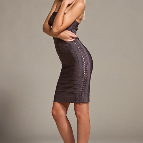 Herve Leger Adriana Shadow Dress - size XS