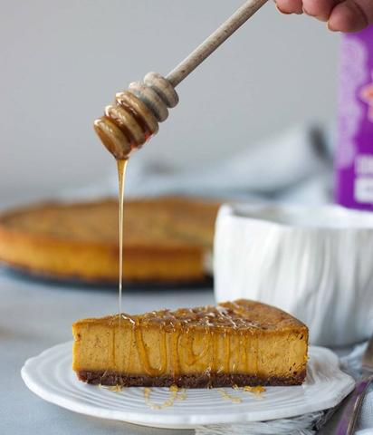 Vegan Pumpkin Chai Cheesecake