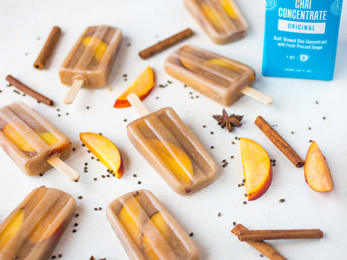 Chai Peach Popsicles