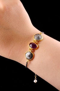 GUZZ - AUTHENTIC BRACELET WITH AMETHYST STONE - iHijabStore I hijab shawl, hijab dress, hijab scarf, hijab accessories