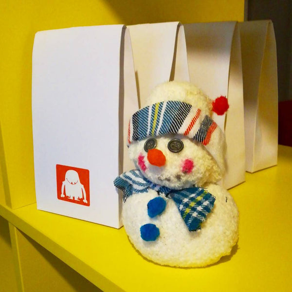 Make your own Sock Snow Man!