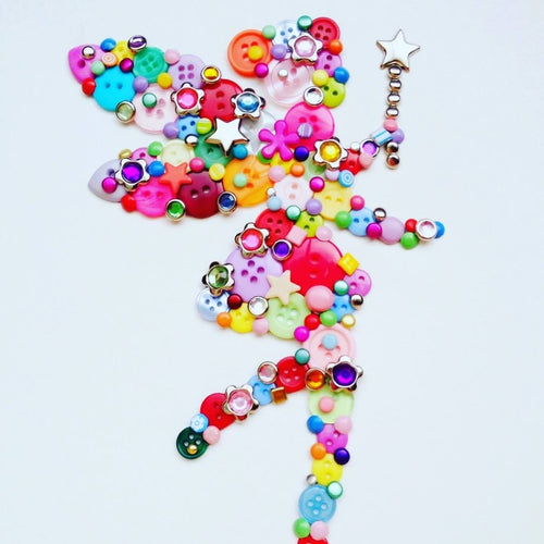 Children's fairy Button Art Craft Kit