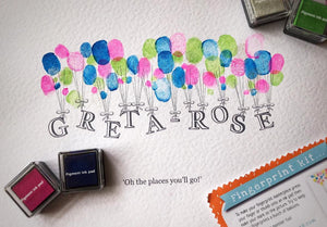 Oh The Places You Will Go Finger Print Kit