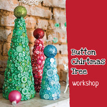 Christmas craft workshop for kids - button Christmas tree