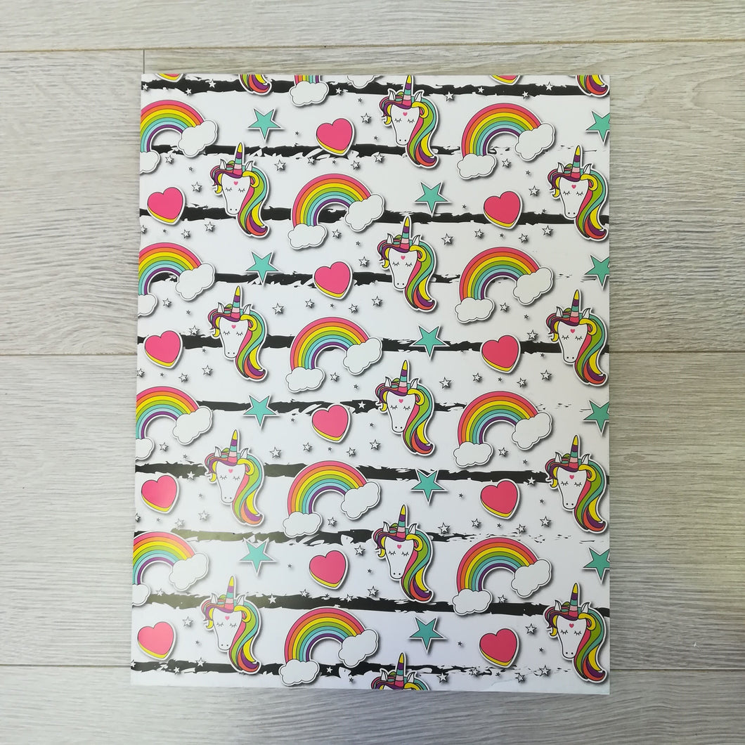 Childrens unicorn scrap book