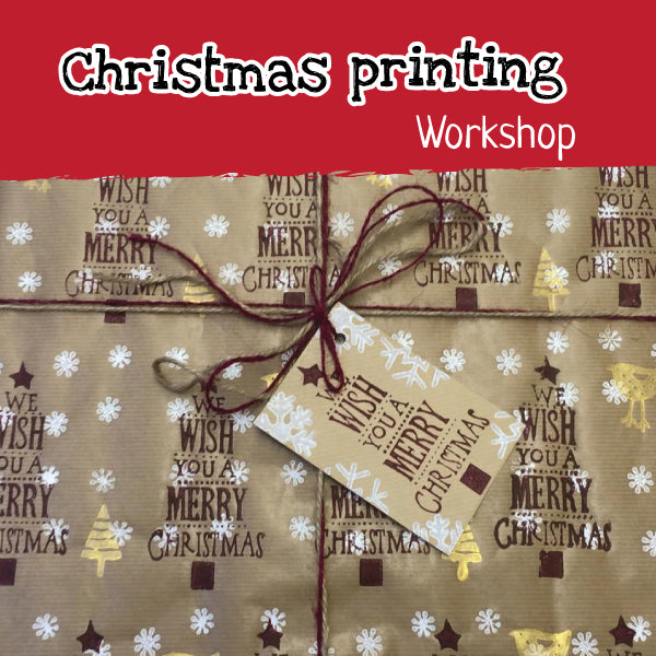 Christmas printing workshop for children
