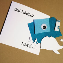 fathers day card kit - whaley love you