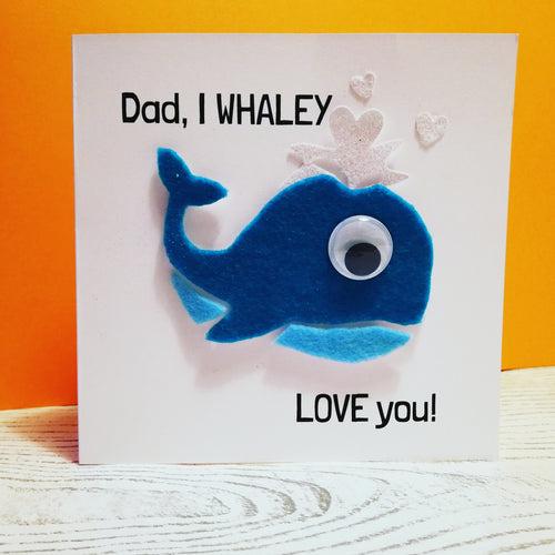 fathers day card kit - crafty little monsters