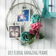 Floral hanging frame workshop adults