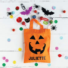 Personalised Halloween treat bags.