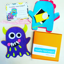 Monster hand puppet children's sewing craft kit