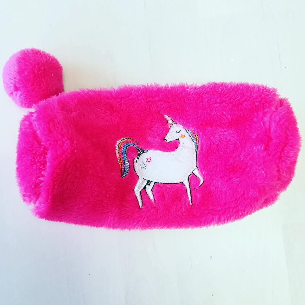 Fluffy Unicorn Pencil Case