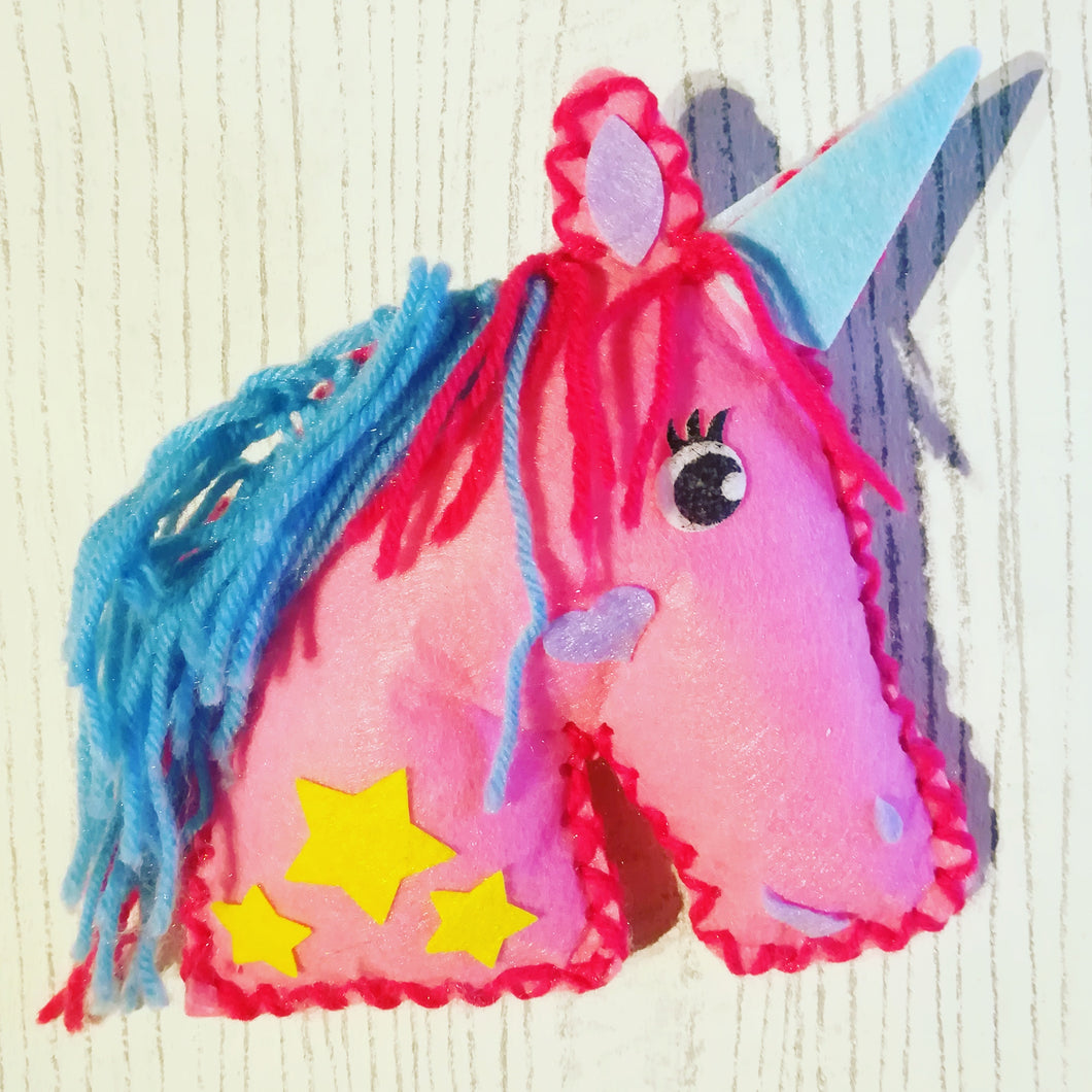 Unicorn Cushion Children's Sewing Kit
