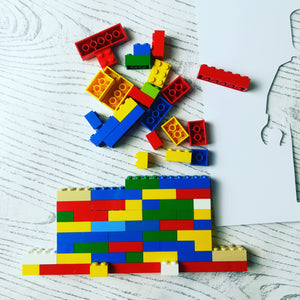 Lego brick man craft kit