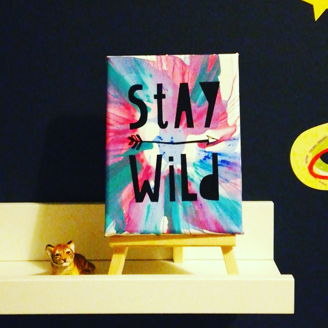 stay Wild spinning art workshop for kids