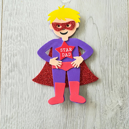 children's Craft super Dad magnet sticker kit