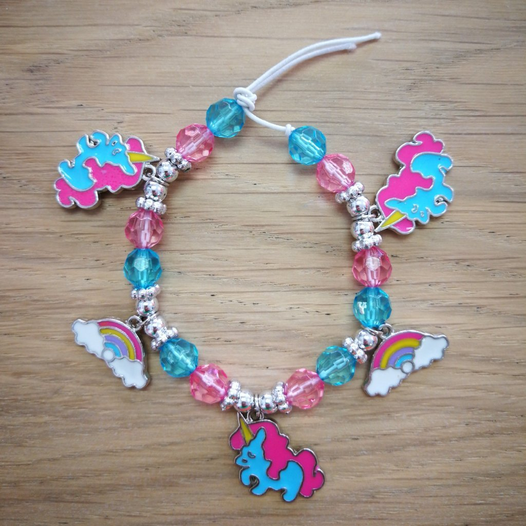 Children's Unicorn Charm Bracelet Craft Kit