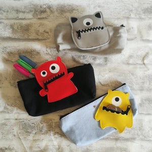 Childrens pencil case - monster pencil case