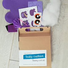 Children's craft kits - teddy bear cushion sewing kit