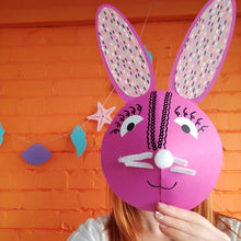 Bunny head craft workshop for children