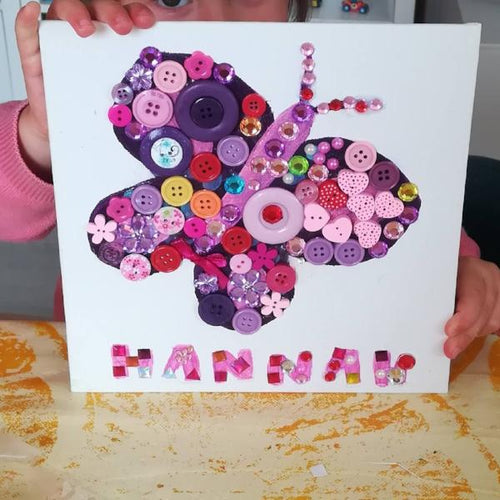children's craft kits - butterfly button art