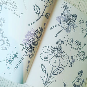 Childrens fairy doodle pad colouring book