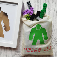 Hulk lego brick man craft kit for children