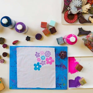 Indian Wood Stamping Craft Workshop for Children - Sat 18th May