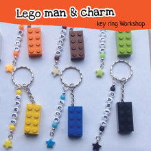 Lego key chain children's craft work shop