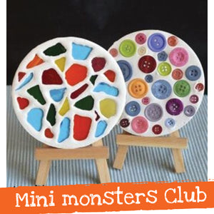 Mini monsters club - mosaic coasters