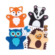 Woodland animal hand puppet sewing kit for children