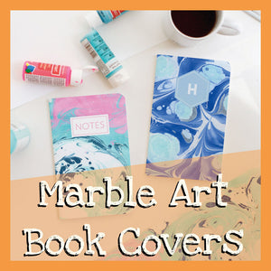 Marbled Art Book Covers