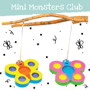 Mini monsters club butterfly feeders workshop