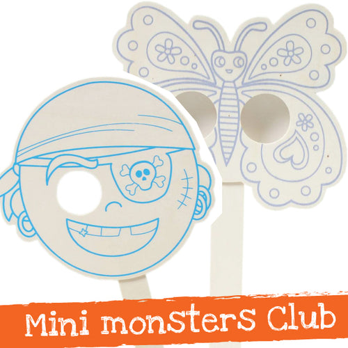 Mini monsters wooden mask Workshop - Wed 24st July