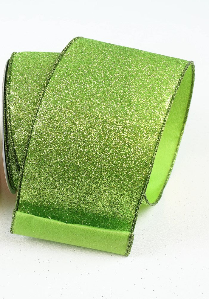 Lime Diamond Dust Ribbon by Farrisilk