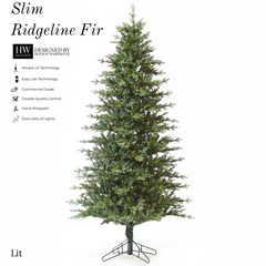 9ft Slim Ridgeline Fir Tree w/ Clear Incandescent Lights