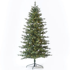 9ft Slim Ridgeline Fir Tree w/ WW LED Lights