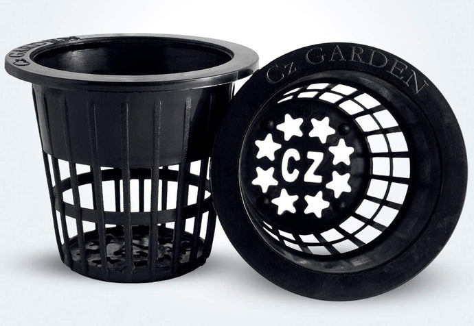 2 inch Net Pots Cups Heavy Duty Round Wide Rim Design - Orchids Aquaponics Hydroponics Slotted Mesh (Cz Garden All Star – 50 Black)
