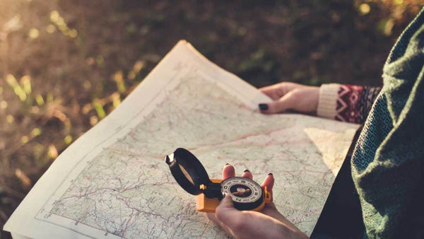 Hiking Map and Compass