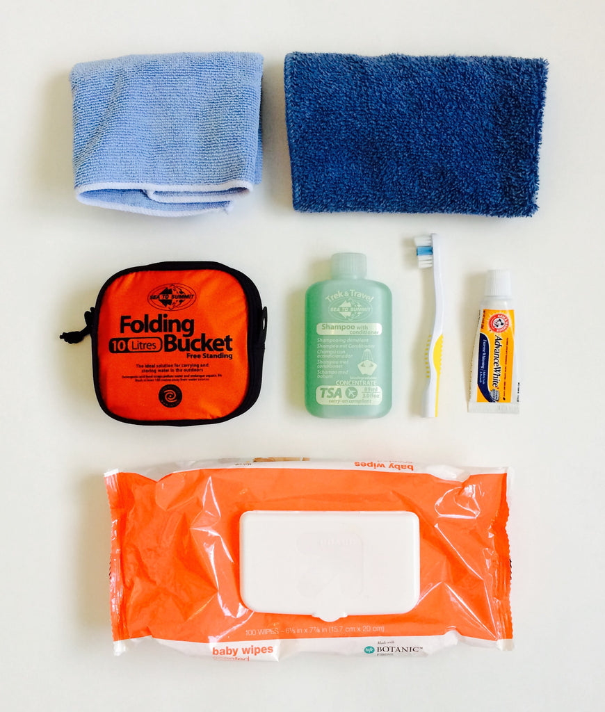 hygiene while hiking and camping