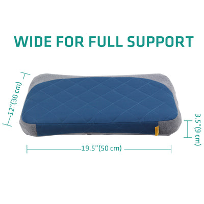 Aluft Deluxe Inflatable Pillow for Camping, Removable Cover
