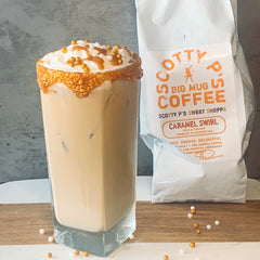 Salted Caramel Bourbon Coffee Cocktail:  The Caramel Swirl flavor of Scott Patterson's (Luke Danes) Scotty P's Big Mug Coffee  was the perfect addition - Eating Gilmore recipe