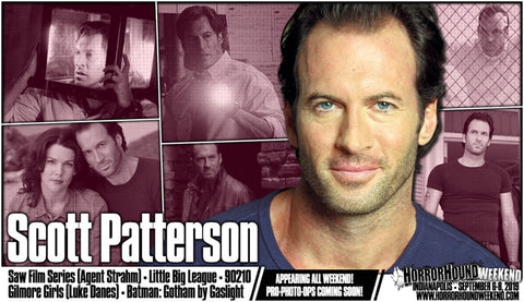 Scott Patterson, best known as Luke Danes from Gilmore Girls and Agent Strahm from SAW, appears at Horrorhound at the Indiana Convention Center Sept 6 -8 2019