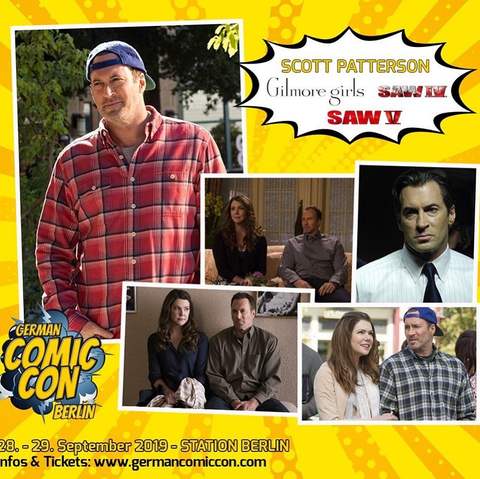 Scott Patterson, best known as Luke Danes of Gilmore Girls and Agent Strahm of SAW, is appearing at the German Comic Con Berlin September 28 - 29, 2019